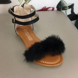 Other - Kids black fur sandal